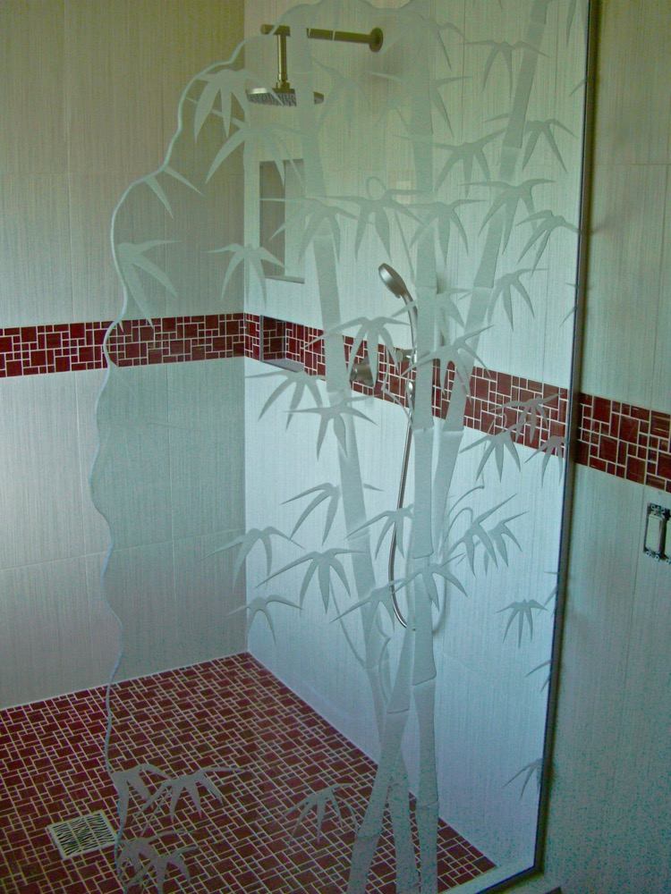 Glass Shower Panel Etched Glass Asian Sans Soucie