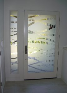 Glass Entry Doors Etched Glass Contemporary Sans Soucie