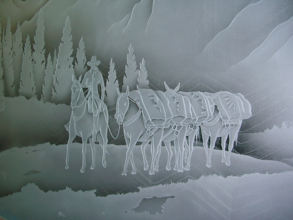 Etched Glass Windows Frosted designs Western Sans Soucie