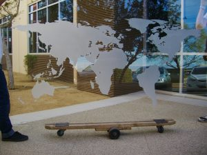 Glass Wall Art Carved Glass World Map Sans Soucie
