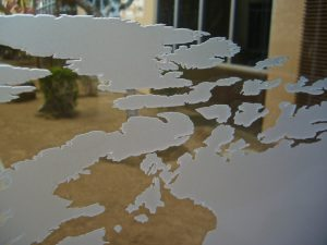 Glass Wall Art Frosted Glass World Map Sans Soucie