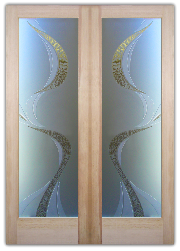 ribbon reflection 3D interior glass doors