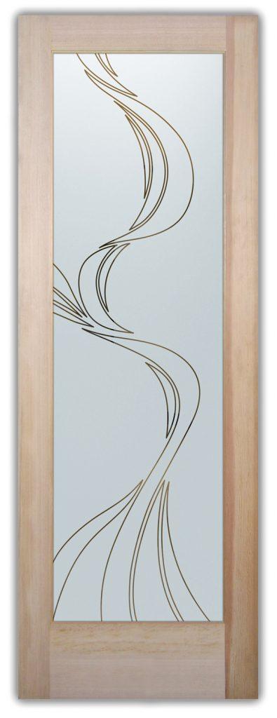 ribbon reflection interior glass doors