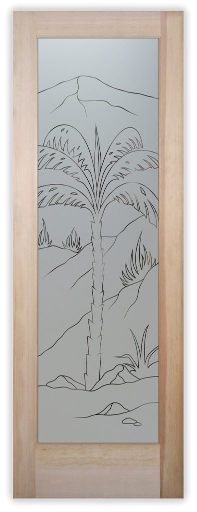 Agave Palm pantry door