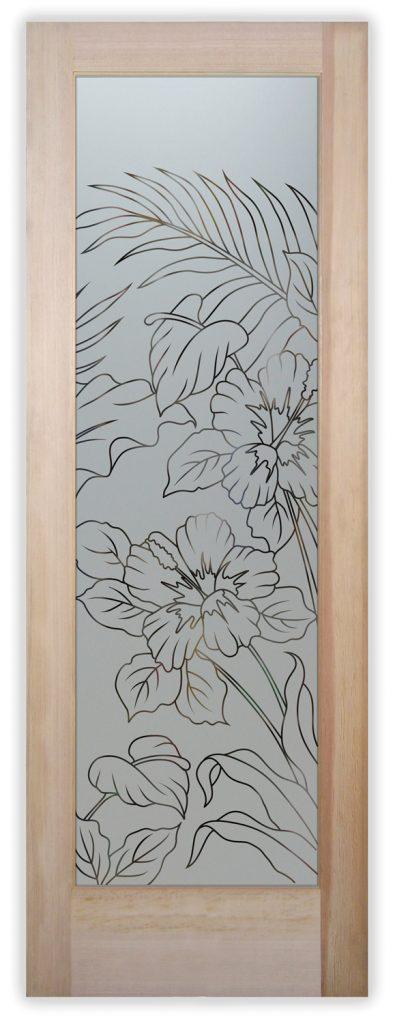 Hibiscus anthurium pantry door