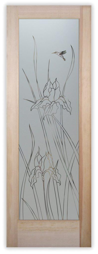 iris Hummingbird Pantry Door