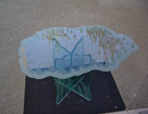 Shoreline Edge 3D Carved Glass Tables