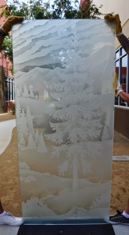 Oregon Forest Trees 3D Carved mountains Sans Soucie