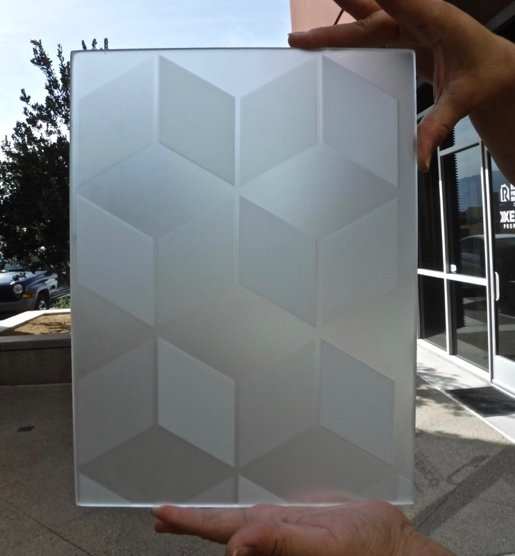 Samples Illusion Cubes 2D Private boxes Etched Glass art glass
