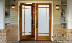 Glass entry door - Sans Soucie Art Glass