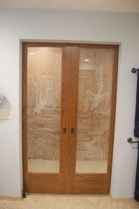 Wildlife Art Glass Doors Etched Glass Sans Soucie