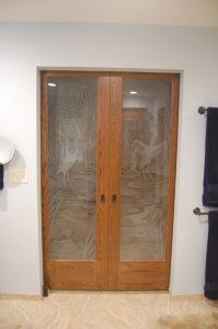 Tropical Art Glass Doors Etched Glass Sans Soucie