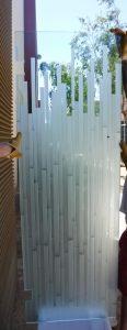 Contemporary Etched Glass Shower Enclosure Sans Soucie