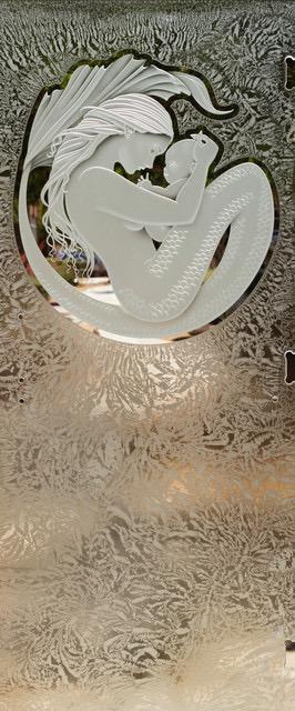 Nautical Etched Glass Shower Door Sans Soucie
