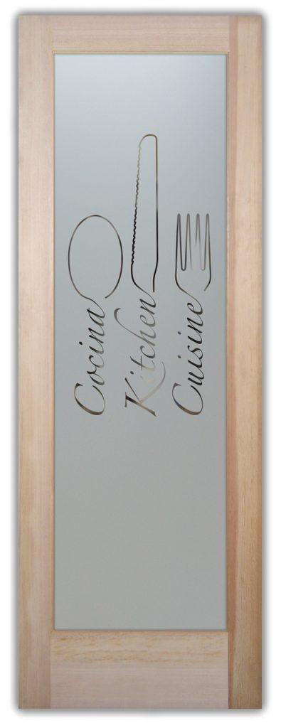 Pantry Doors Etched Glass door Kitchen Cuisine