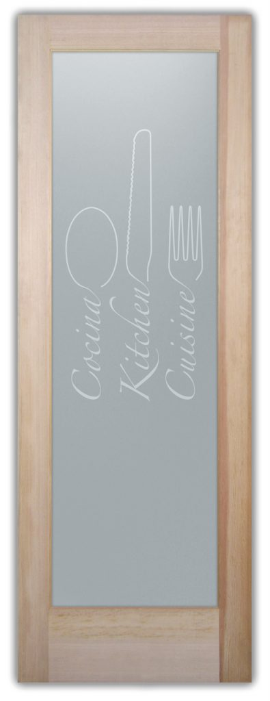Pantry Doors Etched Glass Doors Kitchen Cuisine
