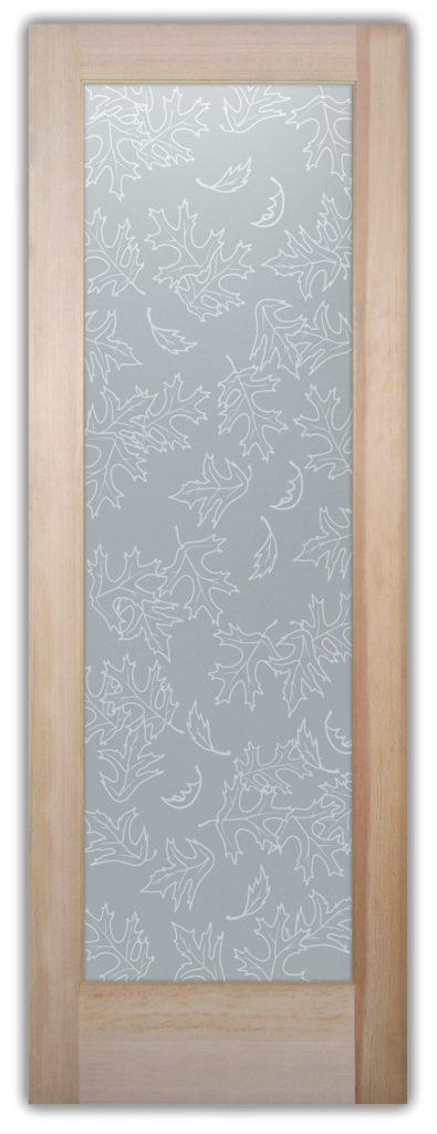 Bathroom Door 100% Private Etched Glass Rustic Sans Soucie