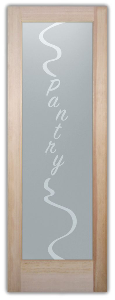 Pantry Door Etched Glass Private Sans Soucie Art Glass