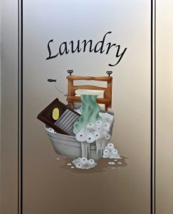 Laundry glass door sans soucie