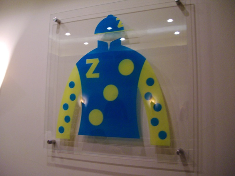 Jockey Jereseys 3D Painted Glass Signs Sans Soucie