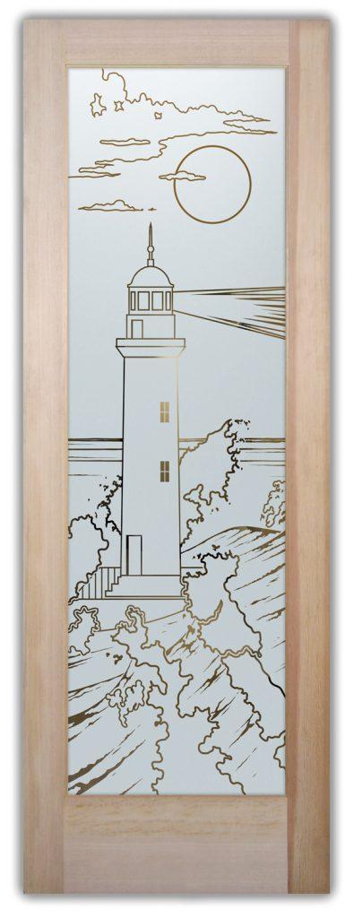 Lighthouse 1D Pinstripe Nautical decor Sans Soucie