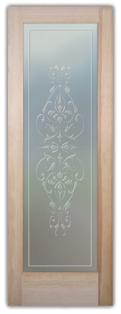 Bordeaux 3D Private Etched Glass Door