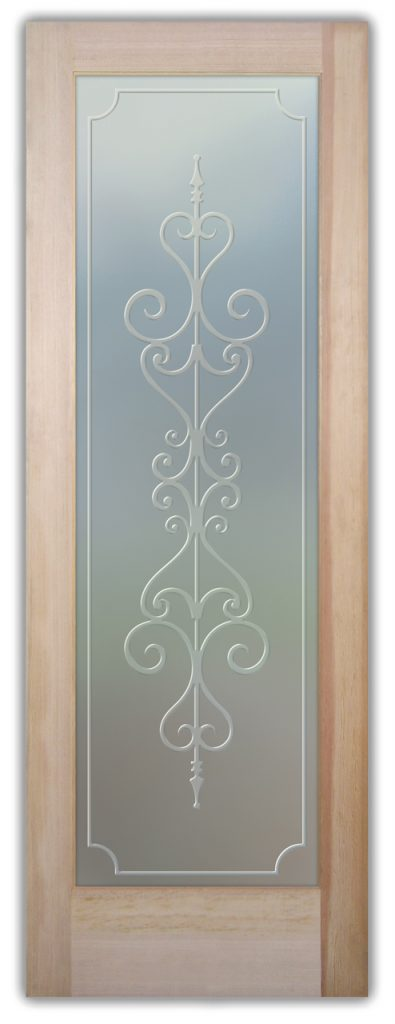 Carmona 3D Private Etched Glass Door