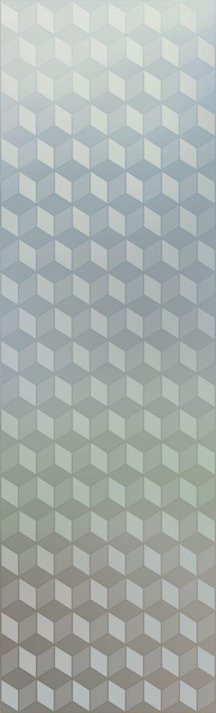 Illusion Cubes 1D Private Door Glass Insert