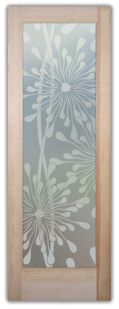 Maypop 1D Private Etched Glass Door