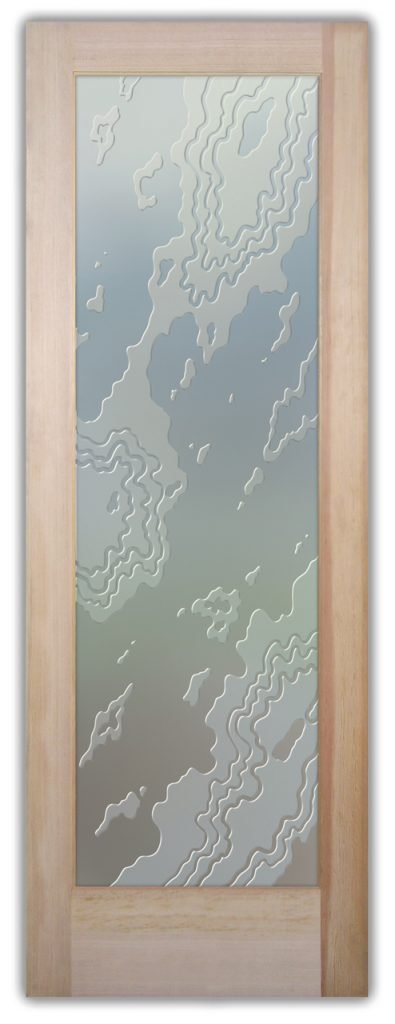 Amoeba 3D Private Etched Glass Door