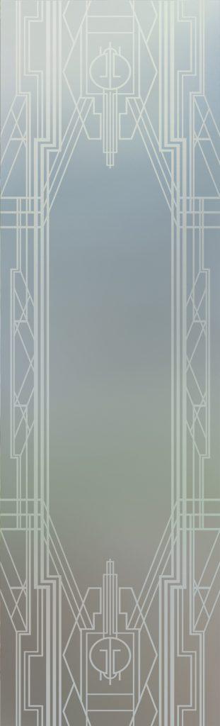 Art Deco Border 1D Private Door Glass Inserts