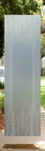 Art Deco Border 3D Private Door Glass Insert
