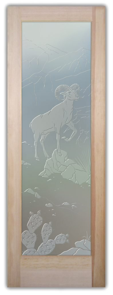 Bighorn 3D Private Etched Glass Door