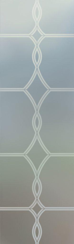 Diamond Beads 1D Private Door Glass Insert