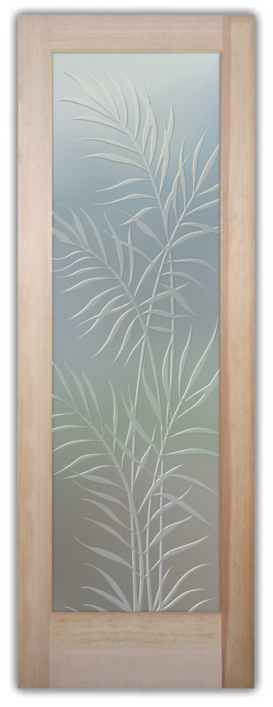 Ferns 3D Private Etched Glass Door