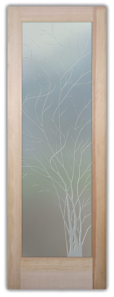 Wispy Tree 3D Private Etched Glass Door