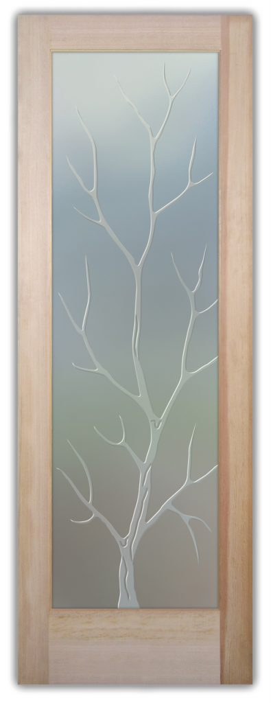 Branch Out 3D Private Etched Glass Door