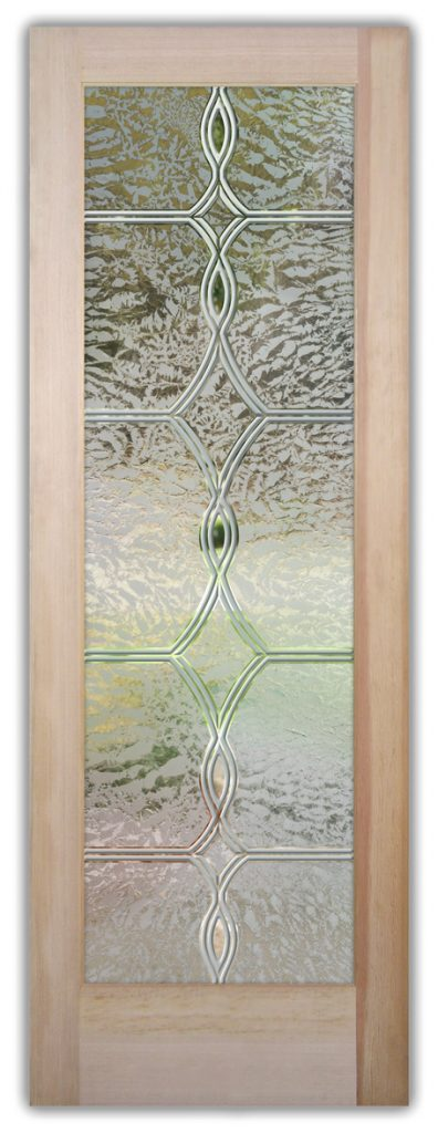 Diamond Beads 3D Gluechip Etched Glass Door