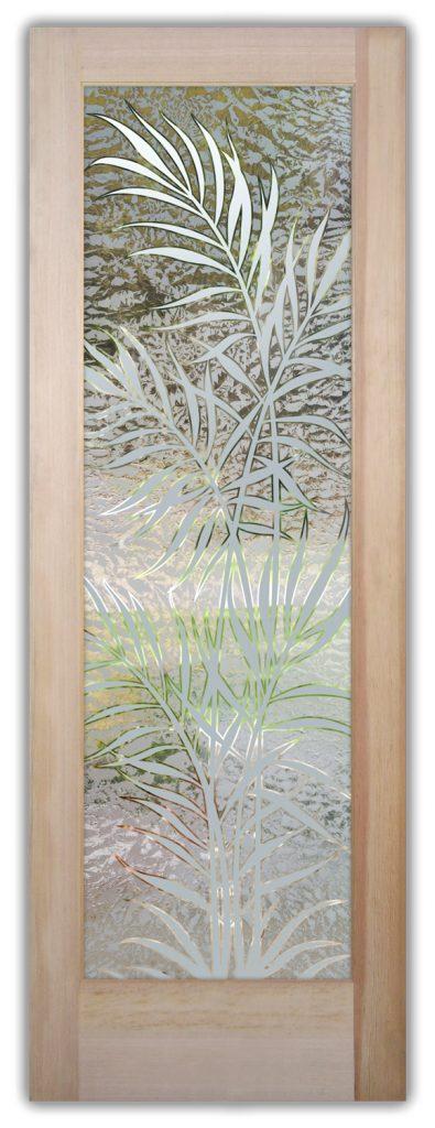 Ferns 1D Gluechip Etched Glass Door