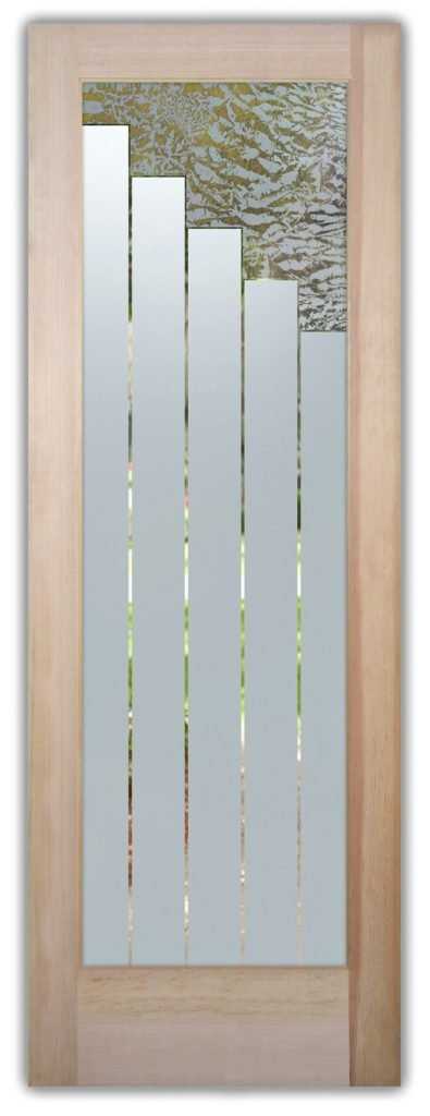 Towers 1D Gluechip Etched Glass Door