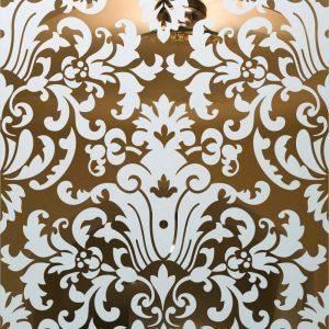 glass etching Victorian decor intricate patterns renaissance sans soucie