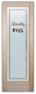 Sans Soucie Laundry Room Doors Etched Glass Clothesline