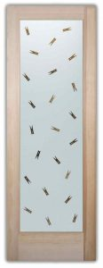 Sans Soucie Laundry Room Doors with Solid Etched Glass clothespins