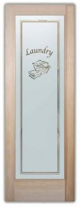 Sans Soucie Laundry Room Doors with Etched Glass Basket
