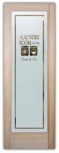 Sans Soucie Laundry Room Doors with Solid Frosted Glass