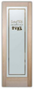 Sans Soucie Laundry Room Doors with Etched Glass Clothesline