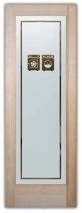 Sans Soucie Laundry Room Doors with Solid Frosted Washer Dryer