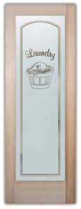 Sans Soucie Laundry Room Doors with Etched Glass cat
