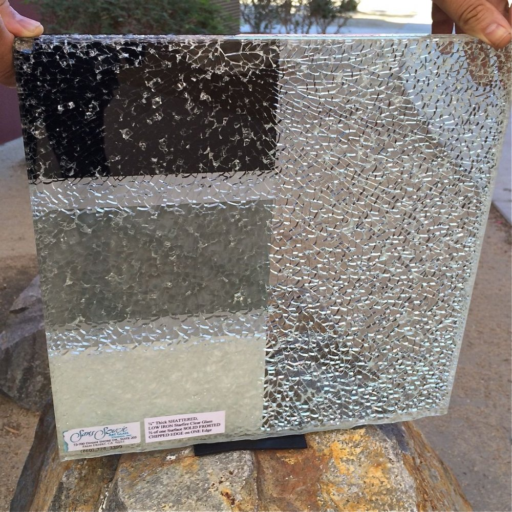 02 Shattered Glass Sample Starphire 174 Low Iron Glass