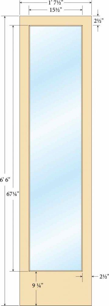 Narrow Stile Door (2-1/2\u2033 wide stiles and top rail)  sc 1 st  Sans Soucie Art Glass & Narrow Stile Door (2-1/2\